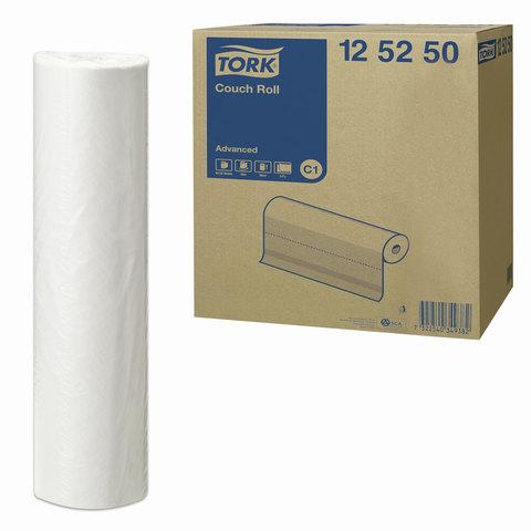 Простыни бумажные медицинские 50 м, TORK (Система C1) Advanced, комплект 9 шт., 2-слойные, белые, 37,8×50 см, 125250
