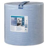 Бумага протирочная TORK (Система W1), 1500 листов в рулоне, 34×36,9 см, 2-слойная, голубая, 130050
