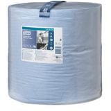 Бумага протирочная TORK (Система W1), 1000 листов в рулоне, 34×36,9 см, 2-слойная, голубая, высокой прочности, 130070