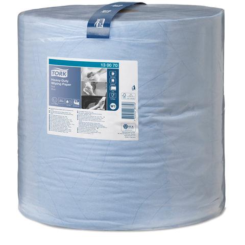 Бумага протирочная TORK (W1), 1000 листов в рулоне, 34×36,9 см, 2-слойная, голубая, высокая прочность, диспенсер 602998 — 999