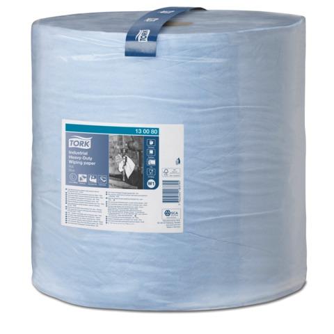 Бумага протирочная TORK (W1), 750 листов в рулоне, 34×36,9 см, 3-слойная, голубая, суперпрочная, диспенсер 602998 — 999