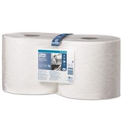 Бумага протирочная TORK (W1, W2), комплект 2 шт., 500 листов в рулоне, 23,5×34 см, 2-слойная, высокой прочности, 130062