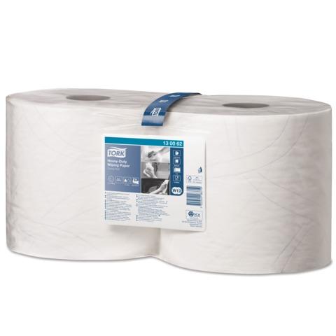Бумага протирочная TORK (W1, W2), комплект 2 шт., 500 листов в рулоне, 23,5х34 см, 2-слойная, высокой прочности, 130062