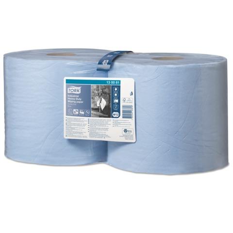 Бумага протирочная TORK (W1/<wbr/>2), комплект 2 шт., 350 листов в рулоне, 23,5×34 см, 3-сл., голубая, суперпрочная,диспенсер 602998-999