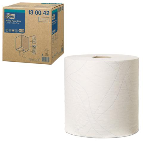 Бумага протирочная TORK (W3) Plus, 750 листов в рулоне, 25,8×34 см, 2-слойная, диспенсер 603002