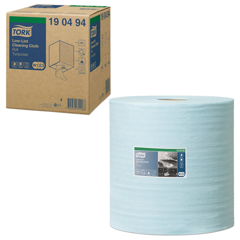 Протирочный нетканый материал TORK (Система W1, W2, W3) Premium, 500 листов в рулоне, 27,5х36 см, 190494