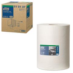 Протирочный нетканый материал TORK (Система W1, W2, W3) Premium, 400 листов в рулоне, 32×38 см, 510137
