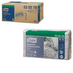 Протирочный нетканый материал 140 шт., TORK (Система W4) Premium, комплект 5 шт., серый, 38,5×42,8 см, 520378