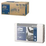 Протирочный нетканый материал 140 шт., TORK (Система W4) Premium, комплект 5 шт., серый, 38,5×42,8 см, 197278