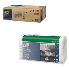 Протирочный нетканый материал 60 шт., TORK (Система W4) Premium, комплект 5 шт., белый, 35,5×64,2 см, 530177