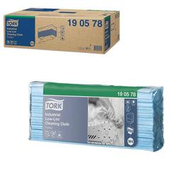 Протирочный нетканый материал 80 шт., TORK (Система W4) Premium, комплект 5 шт., синий, 40×35,5 см, 190578