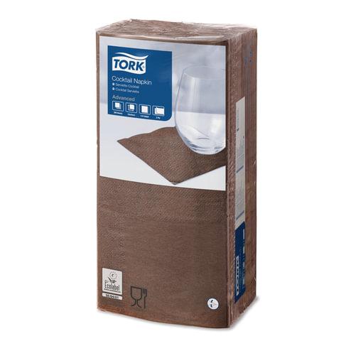Салфетки TORK Big Pack, 24×23,8, 200 шт., 2-х слойные, коричневые, 477834