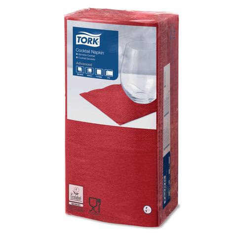 Салфетки TORK Big Pack, 24х23,8, 200 шт., 2-х слойные, бордо, 477824