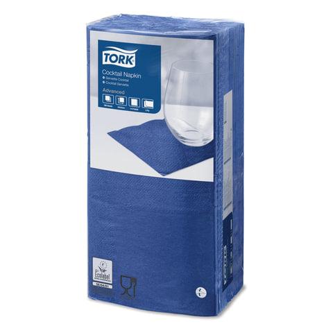 Салфетки TORK Big Pack, 24×23,8, 200 шт., 2-х слойные, темно-синие, 477825