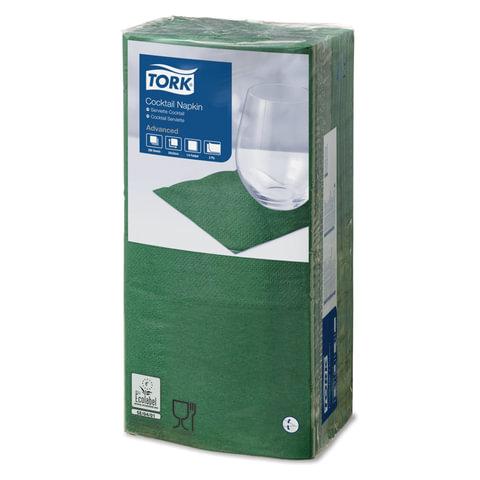 Салфетки TORK Big Pack, 24×23,8, 200 шт., 2-х слойные, темно-зеленые, 18772