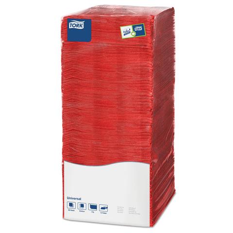 Салфетки TORK Big Pack, 25×25, 500 шт., красные, 478661