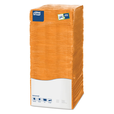 Салфетки TORK Big Pack, 25х25, 500 шт., оранжевые, 470117