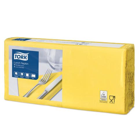 Салфетки TORK Big Pack, 33х32,6, 200 шт., 2-х слойные, желтые, 477841