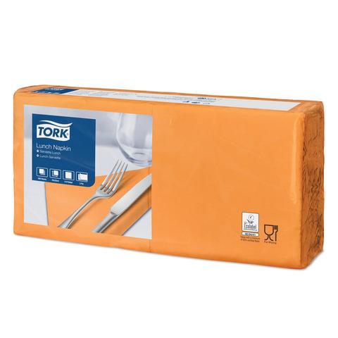 Салфетки TORK Big Pack, 33×32,6, 200 шт., 2-х слойные, оранжевые, 477843