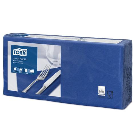 Салфетки TORK Big Pack, 33×32,6, 200 шт., 2-х слойные, темно-синие, 477215