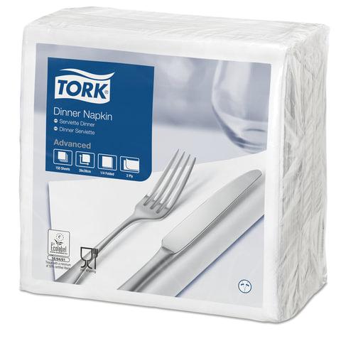Салфетки TORK Big Pack, 39×39, 150 шт., 2-х слойные, белые, 1/<wbr/>4 сложения, 478746