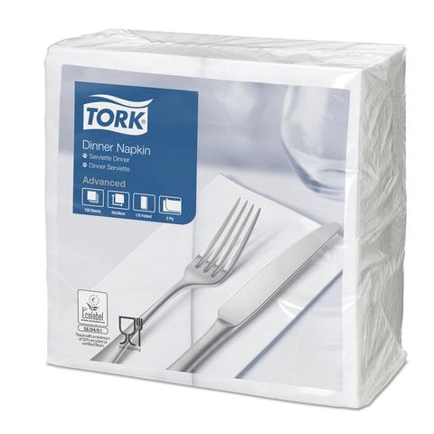 Салфетки TORK Big Pack, 39×39, 150 шт., 2-х слойные, белые, 1/<wbr/>8 сложения, 477554