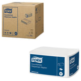 Салфетки TORK (N1) Counterfold, комплект 16 шт., 33×30 см, 250 шт., белые, диспенсер 603005