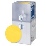 Подставки под чашку (коастер) бумажные TORK, комплект 250 шт., желтые, 8-слойные, диаметр 9 см, круглый край