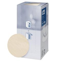 Подставки под чашку (коастер) бумажные TORK, комплект 250 шт., песочные, 8-слойные, диаметр 9 см, круглый край