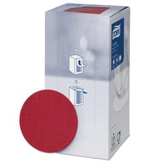 Подставки под чашку (коастер) бумажные TORK, комплект 250 шт., бордовые, 8-слойные, диаметр 9 см, круглый край