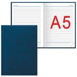 Ежедневник ERICH KRAUSE недатированный, А5, 148×210 мм, «Vivella», «гладкая кожа», синий