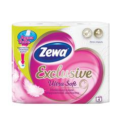 Бумага туалетная бытовая, спайка 4 шт., 4-х слойная (4×17,4 м), ZEWA Exclusive Ultra Soft