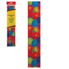 Цветная бумага крепированная BRAUBERG, шарики, растяжение до 25%, 22 г/<wbr/>м<sup>2</sup>, европодвес, 50×200 см