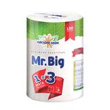 Полотенце бумажное бытовое, 2-х слойное, 32,5 м, МЯГКИЙ ЗНАК Deluxe Mr. Big, белое
