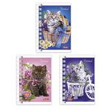 Записная книжка, А7, 67×102 мм, 40 л., гребень, обложка мелованный картон, HATBER, «Нежные котята», 40ЗК7В1гр