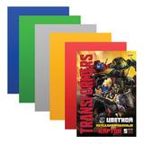 Цветной картон, А4, металлизированный, 5 листов, 5 цветов, HATBER, «Трансформеры», 195×280 мм