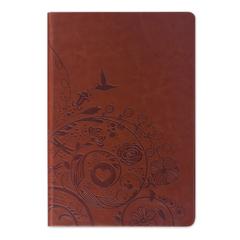 Бизнес-блокнот BRAUBERG, А5, 148×218 мм, «Feelings», кожзаменитель с тиснением, линия, 128 л., коричневый