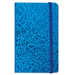 Бизнес-блокнот BRAUBERG, А7+, 95×145 мм, «Irida», кожзаменитель металлик, резинка, линия, 64 л., синий