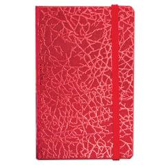 Бизнес-блокнот BRAUBERG, А7+, 95×145 мм, «Irida», кожзаменитель металлик, резинка, линия, 64 л., красный