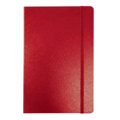 Бизнес-блокнот BRAUBERG, А7+, 95×145 мм, «Select», зернистый кожзаменитель, резинка, линия, 64 л., красный