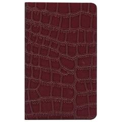 Бизнес-блокнот BRAUBERG, А7+, 95×145 мм, «Party», «лакированный крокодил», линия, 64 л., коричневый