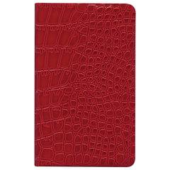 Бизнес-блокнот BRAUBERG, А7+, 95×145 мм, «Party», «лакированный крокодил», линия, 64 л., красный