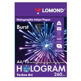 Дизайн-бумага LOMOND с голографическими эффектами («вспышка»), А4, 260 г/<wbr/>м<sup>2</sup>, 10 листов, односторонняя