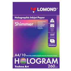 Дизайн-бумага LOMOND с голографическими эффектами («мерцание»), А4, 260 г/<wbr/>м<sup>2</sup>, 10 листов, односторонняя
