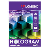 Дизайн-бумага LOMOND с голографическими эффектами («куб»), А4, 260 г/<wbr/>м<sup>2</sup>, 10 листов, односторонняя