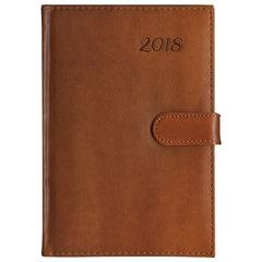 Ежедневник датированный 2018, A5, BRAUBERG «Legend», «гладкая кожа», коричневый, 138×213 мм