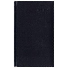 Ежедневник датированный 2018, A5 (ЕВРО), BRAUBERG «Imperial», «гладкая кожа», кремовый блок, синий, 130×215 мм