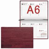 Еженедельник датированный 2018, А6, BRAUBERG «Wood», «благородное дерево», бордовый, 95×155 мм