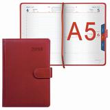 Ежедневник датированный 2018, А5, GALANT «Ritter», магнитная застежка, вырубной блок, красный, 148×218 мм
