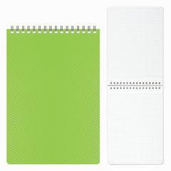 Блокнот А5, 80 л., гребень, пластиковая обложка, HATBER, «DIAMOND-зеленый», 145×205 мм, 80Б5B1гр 02034